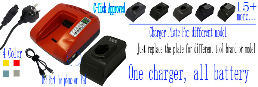 Universal charger for cordless power tools