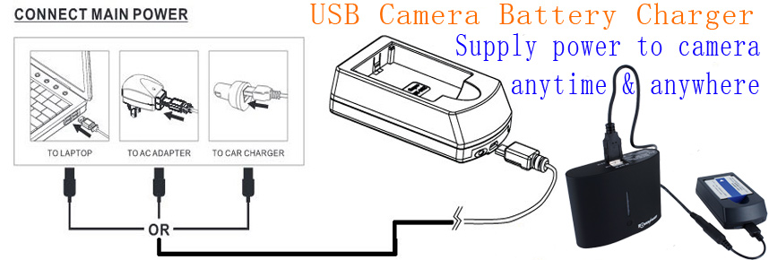 camera USB battery charger