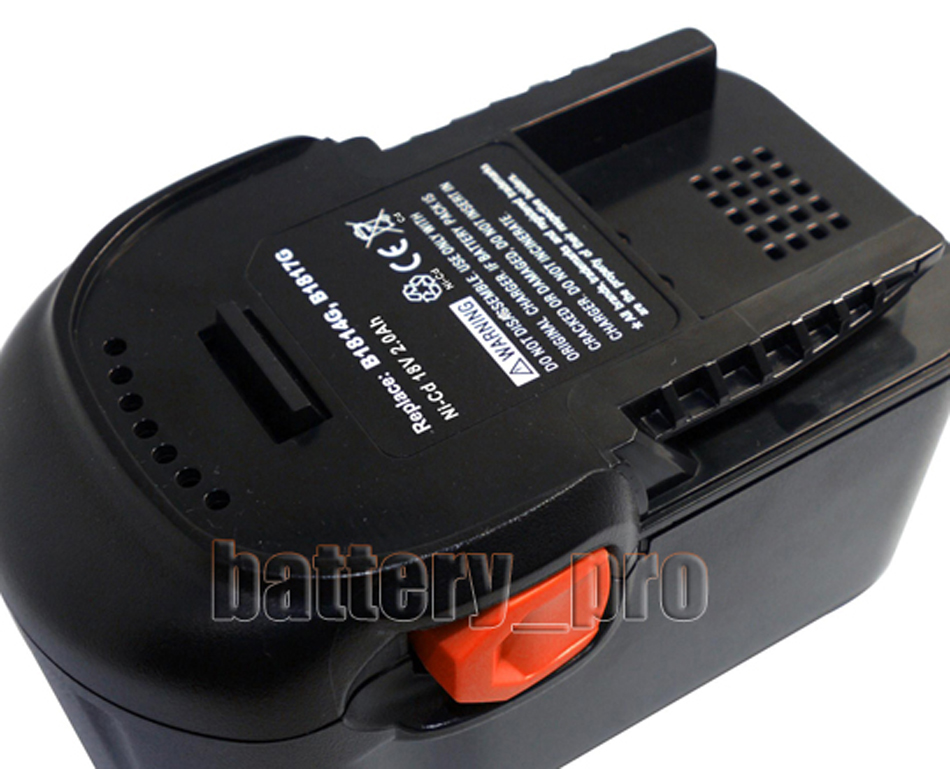 pair 2 0ah 18v cordless battery for aeg 18v combi drill. Black Bedroom Furniture Sets. Home Design Ideas