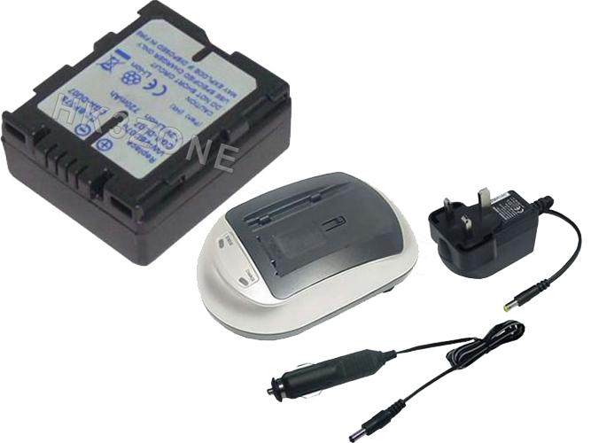 720mAh Battery + charger for PANASONIC NV-GS408GK NV-GS40B NV-GS44 CGA-DU06A/1B
