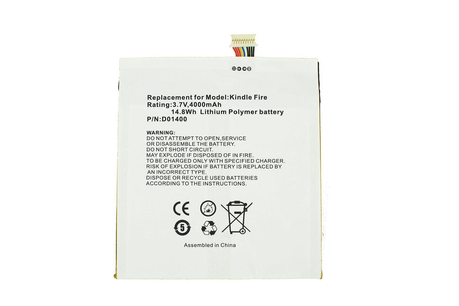 370 V Replacement For Amazon D01400 Kindle Fire Tablet Pc Batteries